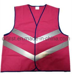 Полиэфирная ткань вязания новый стиль отражает безопасности Майка Dfv1057