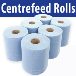 Azul de alta qualidade ultra absorvente Centro descartáveis toalha em rolo