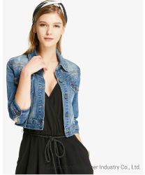 De forma personalizada Senhoras Grosso Denim Jeans Casual mulheres coletes a granel