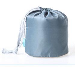 شعار مخصص مطبوع على قماش هدية قطن قطنية حقيبة تسوق مزدوجة خيط حقيبة درج غبار لحذاء اليد