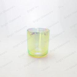 Vetri Iridescent del supporto di candele della tazza di vetro della candela del Rainbow