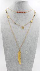 Le P. V. D Plume placage Collier Pendentif pour Mode bijoux