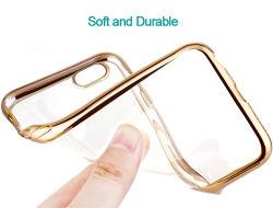 Silver Crystal Electroplate cas TPU pour Apple iPhone 6S de luxe TPU Transparent Étui pour iPhone 5 Se 6s 7 Accessoire de téléphone