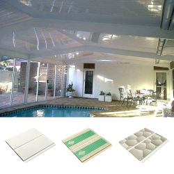prix d'usine faux plafonds décoratifs du panneau de gypse en plastique PVC la conception de plafond pour toit