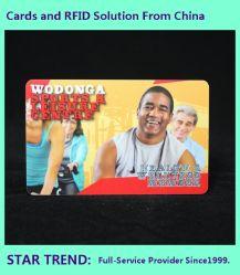 La impresión de tarjetas de PVC de perlado con banda magnética para el Sport Club