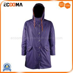 Commerce de gros hommes d'eau de pluie polyuréthane résistant aux vestes pour les activités de plein air