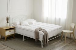 Doule에 있는 100%년 면 233t 기털 매트리스 상품 /Feather 침대는 혼합 Microfiber를 층을 이룬다