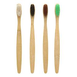 FDA одобрил эко- дружественных древесный уголь щетиной OEM биоразлагаемых зубная щетка с подгонянная упаковка из бамбука и логотип