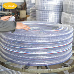 Tubo di rinforzo del tubo flessibile del filo di acciaio del PVC per la polvere dell'olio dell'acqua che vuota pressione di Hight