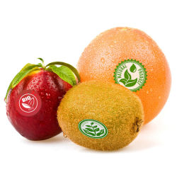 Fabricación personalizada saludable impermeable adhesivo de la impresión de etiquetas de alimentos frutas verduras