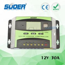 Contrôleur PWM Suoer 12V 30A Contrôleur de charge solaire Solar Controller (ST-C1230)