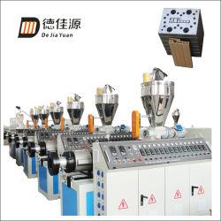 PE/PVC Extrusion WPC Profil de ligne de production pour le pontage Woodplastic