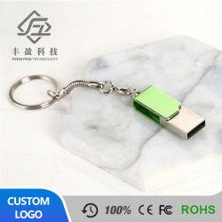 De Wartel OTG USB Pendrive 3.0 van het metaal 32GB 64GB Embleem van de Douane van de Stok het Bulk