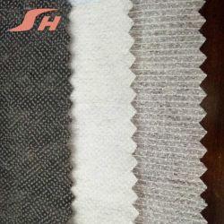 stof van het Kledingstuk van 8030 van 100% van de Polyester Kleefstoffen van Hotmelt de Niet-geweven Smeltende Gestippelde Interlining