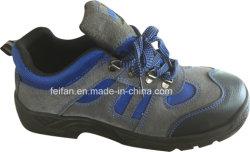 スエードのスポーツの網デザインの革安全靴