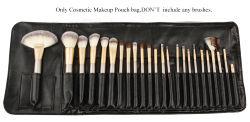 12-24 Professional Soft Brosse de maquillage de stockage de PU Portable sac cosmétique