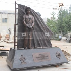 برونزيّ جندية نصب تذكاريّ نحت سطح غشاء أكسيديّ ملوّن