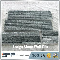 機能壁及び正面のための暗い灰色のスタックされたスレート文化石