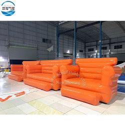 Настраиваемые водонепроницаемый корпус из негорючего материала ПВХ брезент надувной и портативных диван-кровать