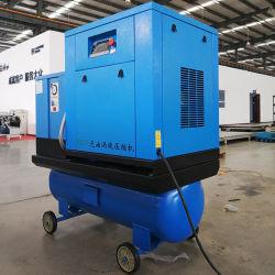 5.5Kw Secador silenciosa de rolagem de um compressor de ar com o Tanque de Ar