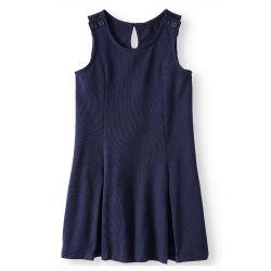 Fabricante personalizado de los niños Azul Marino Pinafore preescolar jardín de infantes primaria privada niña vestido de puente de diseño de alta calidad de las niñas adolescentes jóvenes uniforme escolar