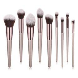 9 ПК на базе профессионального макияжа набор щеток, Premium косметические щетки для фундамента порошок Concealers тени брови с Cruelty-Free синтетического волокна щетиной
