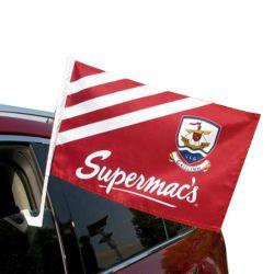 フラグの旗の車の窓のフラグのホールダーを広告するカスタムロゴによって印刷される国