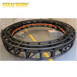 A luz de rotação Truss na parte capina DMX um canal Alumínio círculo giratório iluminação de palco Truss