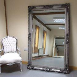 Decoração Vintage Espelho emoldurado de moldagem de madeira
