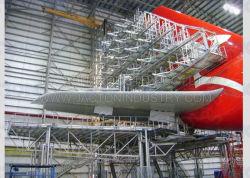 La vis de positionnement de précision Jacks Aircraft Maintenance Systèmes d'accueil plate-forme d'avion aile Chariot de levage Jack vis à vis sans fin