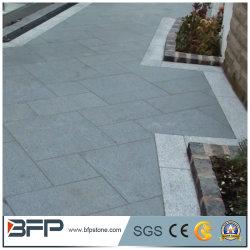 Granit gris foncé chinois Wholsale G654 flammé pavés de granit pour l'allée
