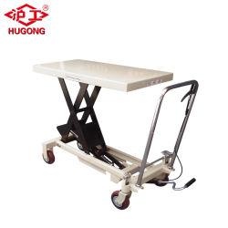 Pé de Elevação Hidráulica da Bomba Manual do carrinho da mesa de elevação em tesoura portátil