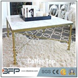 Dinnig部屋のための普及したヨーロッパ式の白い大理石のコーヒーテーブル