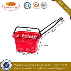 Cestini di plastica resistenti di rotolamento per memoria, cestini della maniglia con le rotelle da vendere