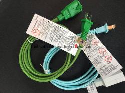 Сплошным цветом повороты экранирующая оплетка кабеля ткани электрический шнур питания из нейлона