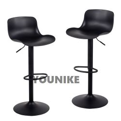 La barre réglable pivotant à 360 degrés tabouret, fauteuil en cuir noir moderne Pub