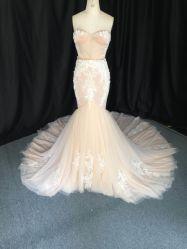De Douane van uitstekende kwaliteit maakt de Vrouwen van Prom van de Avond van de Meermin van het Kant Bruids Toga's 3165 kleden van het Huwelijk