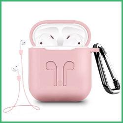 耳ホックおよびストラップとのApple Airpodの充満例のための保護シリコーンのカバーそして皮