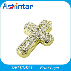 Кристально чистый звук крест памяти USB Memory Stick Diamond украшения флэш-диска USB