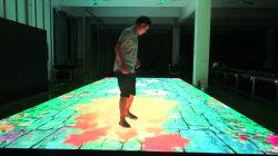 Video schermo interattivo portatile Dance Floor delle mattonelle di pavimento di HD P6.25 LED con i giochi del capretto