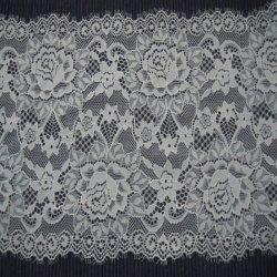 Tejido elástico de encaje de pestañas para nylon spandex Fancy Net Material de tejido de encaje ropa interior de África