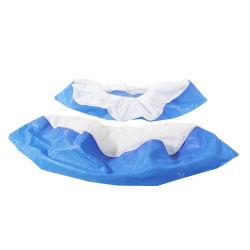 Non-Woven desechables de tejido elástico y transpirable de cubrezapatos antideslizamiento antipolvo