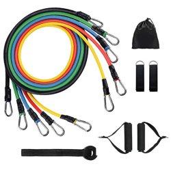 11pcs/Set tirer la corde Exercices de fitness de l'exercice d'entraînement de la résistance du tube de résistance
