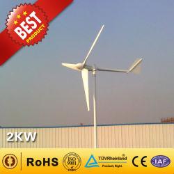 2KW Gerador eólico da China Fabricante (Gerador de turbina eólica 90W-300KW) Pequena turbina eólica de uso doméstico