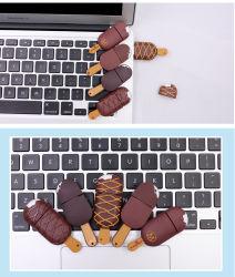 La simulation de la crème glacée USB Pen Drive PVC souple des lecteurs Flash USB