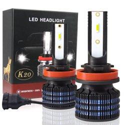 LED Hot Sale Cheapest K20 LED H4 H7 H11 CSP Chip 12000LM 80W Voiture 9-32V auto des feux de LED haute puissance de feux de voiture Hedalights 6000K