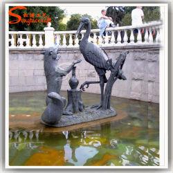 China Proveedor Arte Escultura Escultura en piedra de los animales de piedra de metal