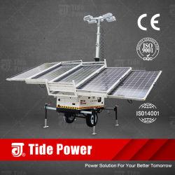 構築空港携帯用照明タワーのための高性能74400lm移動式太陽LED軽いタワー