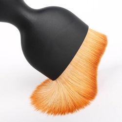 Spazzola della polvere di trucco della singola del fondamento di Highwoo grande di trucco della spazzola grande spazzola nera professionale di trucco