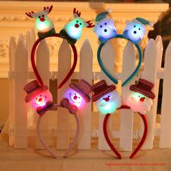 Weihnachtshaar-Band-Weihnachtslichter sondern Haar-Band-Kopfschmuck-Weihnachtsdekoration-Weihnachtsgeschenke aus